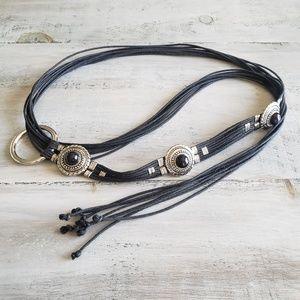 Vintage | Bohemian Bolo Tie Western Loop Tie Belt